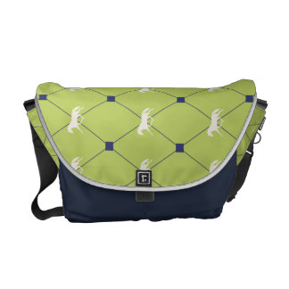 Blue and Green Harleqiun Trotting Horse Pattern Commuter Bags