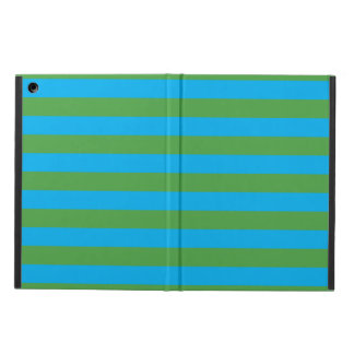 Blue and Green Horizontal Stripes iPad Air Cover