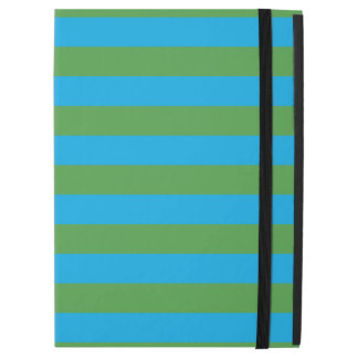 "Blue and Green Horizontal Stripes iPad Pro 12.9"" Case"