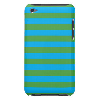 Blue and Green Horizontal Stripes iPod Touch Cover