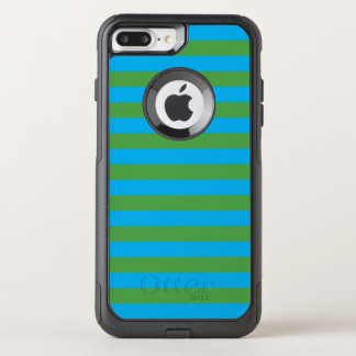 Blue and Green Horizontal Stripes OtterBox Commuter iPhone 8 Plus/7 Plus Case