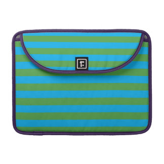 Blue and Green Horizontal Stripes Sleeve For MacBooks