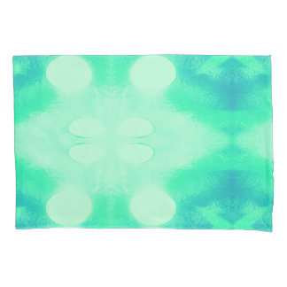 Blue and Green Ikat Pillow Case