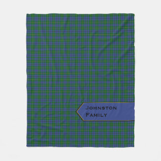 Blue and Green Johnston Plaid Fleece Blanket