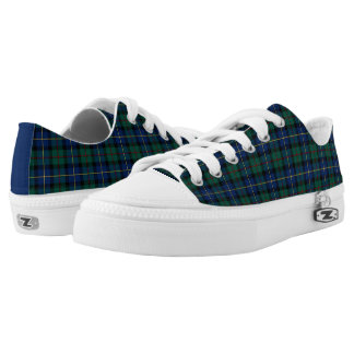 Blue and Green MacLeod of Skye Clan Tartan Canvas Low Tops