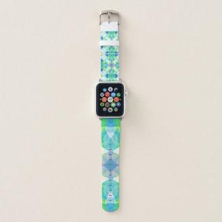 blue and green mandala apple watch band