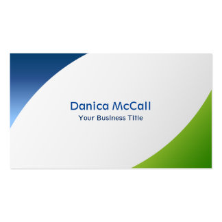 Blue and Green Modern Professional Minimalist Pack Of Standard Business Cards