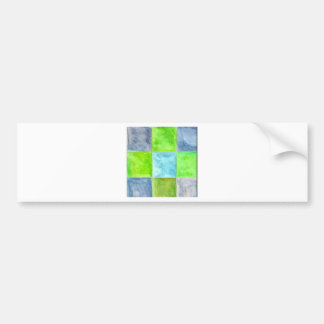 Blue and Green Pattern Bumper Sticker