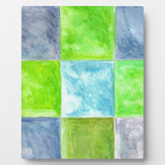 Blue and Green Pattern Plaque