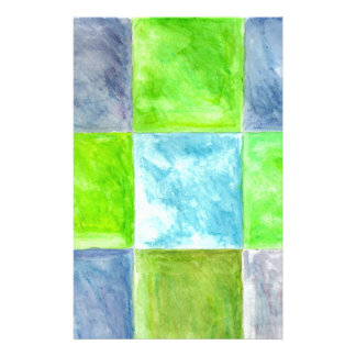 Blue and Green Pattern Stationery