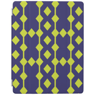 Blue and Green Patterned iPad Cover