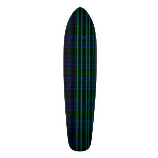 Blue and Green Plaid Checked 21.6 Cm Old School Skateboard Deck