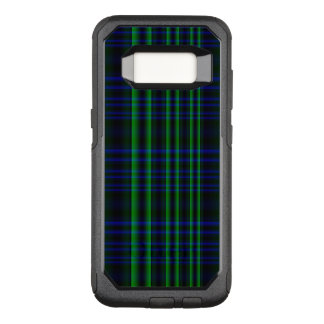 Blue and Green Plaid Checked OtterBox Commuter Samsung Galaxy S8 Case