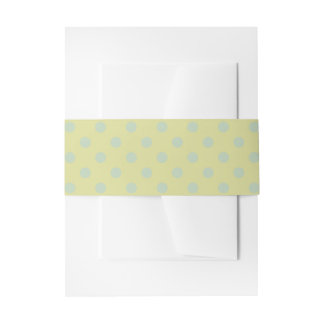 Blue and green polka dots belly band invitation belly band