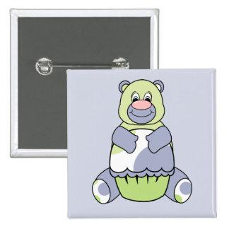 Blue And Green Polkadot Bear Buttons