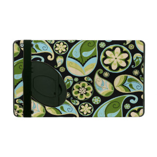 Blue and Green Retro Paisley iPad Folio Case