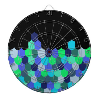 Blue and Green Scales Dartboard