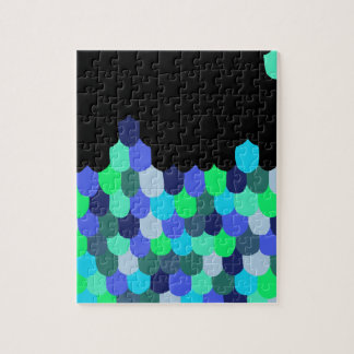 Blue and Green Scales Jigsaw Puzzle