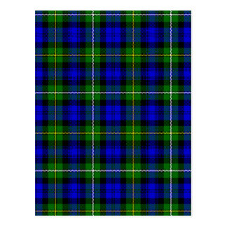 Blue and Green Scottish Clan Campbell Tartan Postcard