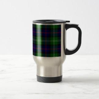 Blue and Green Scottish Clan Sutherland Tartan Travel Mug