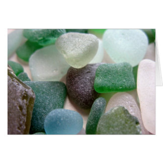 Blue and Green Sea Glass Card