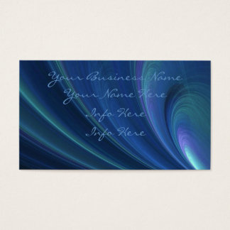 Blue And Green Soft Sand Waves Business Card
