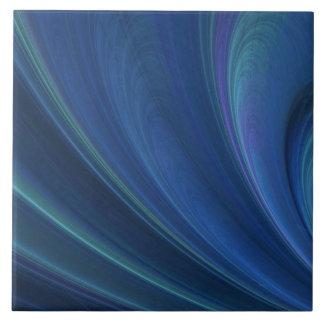 Blue And Green Soft Sand Waves Ceramic Tile