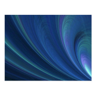 Blue And Green Soft Sand Waves Postcard