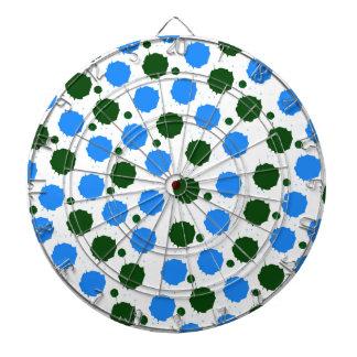 Blue and Green Splash Dots Dartboard