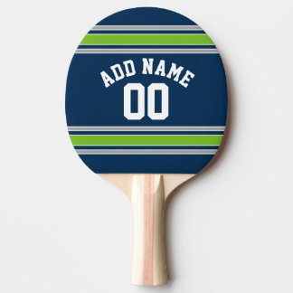 Blue and Green Sports Jersey Custom Name Number