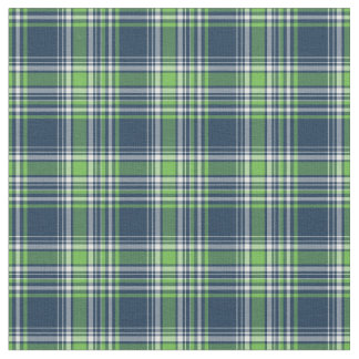 Blue and Green Sporty Plaid Fabric