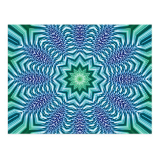 Blue And Green Star Flower Postcard