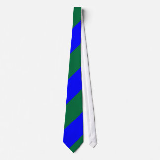 Blue and Green-Striped Custom Tie