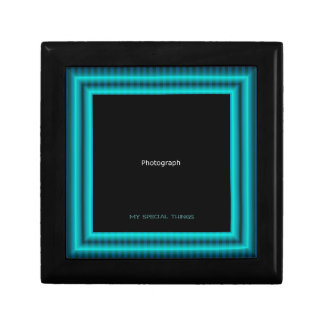 Blue and Green stripes Gift Box