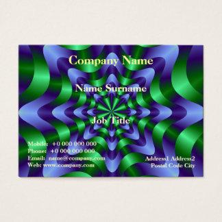 Blue and Green Swirl Card