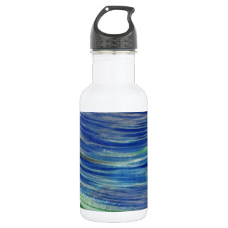 Blue and Green Swirls in the Round 532 Ml Water Bottle