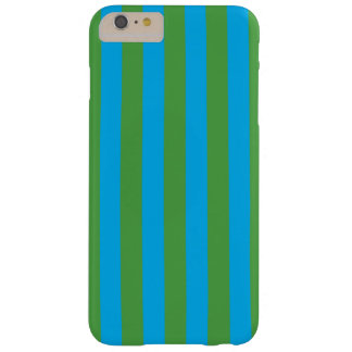 Blue and Green Vertical Stripes Barely There iPhone 6 Plus Case