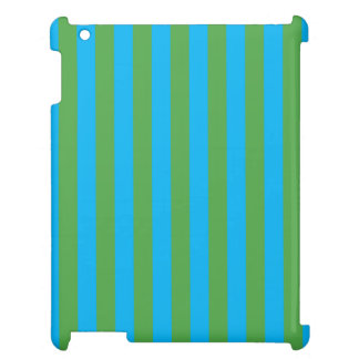 Blue and Green Vertical Stripes Cover For The iPad