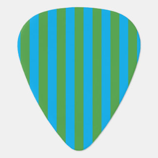 Blue and Green Vertical Stripes Guitar Pick