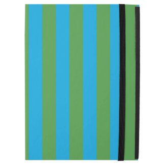 "Blue and Green Vertical Stripes iPad Pro 12.9"" Case"