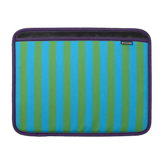 Blue and Green Vertical Stripes MacBook Sleeves