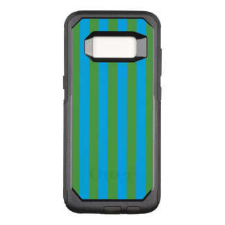 Blue and Green Vertical Stripes OtterBox Commuter Samsung Galaxy S8 Case