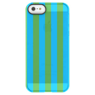 Blue and Green Vertical Stripes Permafrost® iPhone SE/5/5s Case