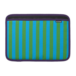 Blue and Green Vertical Stripes Sleeve For MacBook Air