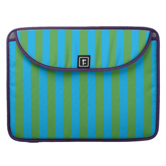Blue and Green Vertical Stripes Sleeve For MacBooks