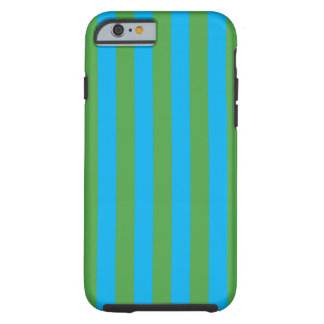 Blue and Green Vertical Stripes Tough iPhone 6 Case