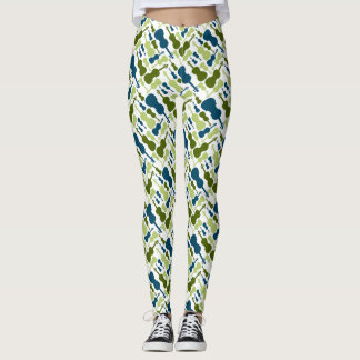 Blue and Green Violins Leggings
