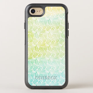 Blue and Green Watercolor Waves OtterBox Symmetry iPhone 8/7 Case