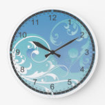 Blue and Green Yin & Yang Clock