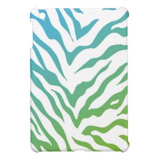 Blue and Green Zebra Stripes iPad Mini Covers